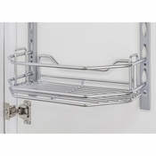 "Hardware Resources - Door Mount Tray 6"" x 3"" x 11"". - Polished Chrome - DMT6-PC-R"