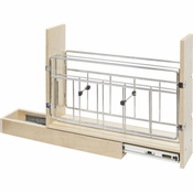 "Hardware Resources - 8"" Base Cabinet Pullout with Built in Tray Divider. - BPOTD8"