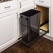 Hardware Resources - 35 or 50 Quart Single Pullout Waste Container System. - CAN-EBMSB-R