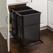 Hardware Resources - 35 Quart Double Pullout Waste Container System. - CAN-EBMDB-R