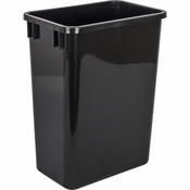 Hardware Resources - 35 Quart Plastic Waste Container, Black. - CAN-35