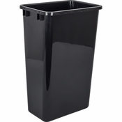 Hardware Resources - 50 Quart Plastic Waste Container, Black. - CAN-50