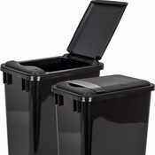 Hardware Resources - Lid for 35 Quart Plastic Waste Container, Black. - CAN-35LID