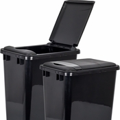 Hardware Resources - Lid for 50 Quart Plastic Waste Container, Black. - CAN-50LID