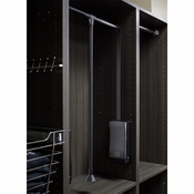 "Hardware Resources - 33"" Expanding to 48"" Wardrobe Lift Black Powder Coated Tubing with Black Plastic. - 1532-BLK"