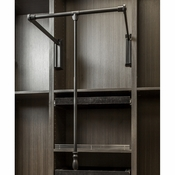 "Hardware Resources - Soft-close Wardrobe Lift 25-1/2"" Expanding to 35"". - 1523SC-BLK"