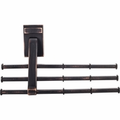 Hardware Resources - Screw Mounted Tie/Scarf Rack. - Brushed Oil Rubbed Bronze - 356T-DBAC