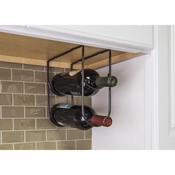 Hardware Resources - Brushed Oil Rubbed Bronze Under Cabinet Wine Bottle Rack - Brushed Oil Rubbed Bronze - WBH-DBAC-R