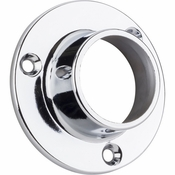 "Hardware Resources - Closed Closet Bracket for 1-5/16"" Rod. - Polished Chrome - M7360-CH"