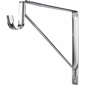 Hardware Resources - Shelf & Rod Support Bracket. - Polished Chrome - 1516CH
