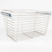 "Hardware Resources - Closet Pullout Basket 16""D x 23""W x 17""H. - Satin Nickel - POB1-162317SN"