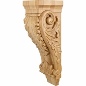 Hardware Resources - CORBB-3RW - Large Acanthus Wood Corbel - Rubberwood