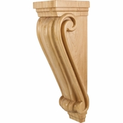 Hardware Resources - CORC-3RW - Large Traditional Wood Corbel - Rubberwood