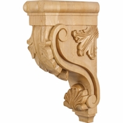 Hardware Resources - CORE-RW - Acanthus Wood Bar Bracket Corbel - Rubberwood