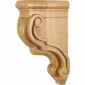 Hardware Resources - CORF-RW - Traditional Wood Bar Bracket - Rubberwood