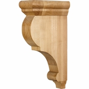 Hardware Resources - CORG-RW - Traditional Wood Bar Bracket - Rubberwood