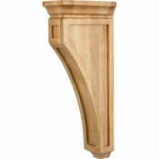 Hardware Resources - CORH-RW - Mission Style Wood Bar Bracket Corbel - Rubberwood