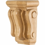 Hardware Resources - CORMI-RW - Mini Traditional Wood Corbel - Rubberwood