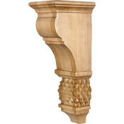 Hardware Resources - COR15-2RW - Diamond Colonial Style Corbel - Rubberwood