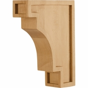 Hardware Resources - COR16-BMP - Coved Arts & Crafts Corbel - Hard Maple