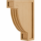 Hardware Resources - COR16-CMP - Fluted Arts & Crafts Corbel - Hard Maple
