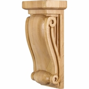 Hardware Resources - COR17-1RW - Small Neo Gothic Traditional Corbel - Rubberwood