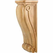 Hardware Resources - COR17-3RW - Large Neo Gothic Traditional Corbel - Rubberwood