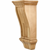 Hardware Resources - COR19-2RW - Renaissance Corbel - Rubberwood