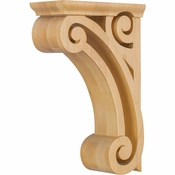 Hardware Resources - COR2-1RW - Open Space Corbel - Rubberwood
