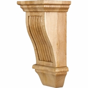 Hardware Resources - COR20-1RW - Renaissance Reeded Corbel - Rubberwood