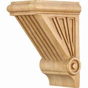 Hardware Resources - COR3-1RW - Starburst Corbel - Rubberwood
