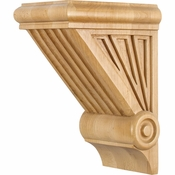 Hardware Resources - COR3-2RW - Starburst Corbel - Rubberwood