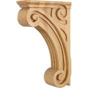 Hardware Resources - COR4-2RW - Open Space Fluted Corbel - Rubberwood