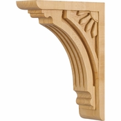 Hardware Resources - COR5-2RW - Art Deco Corbel - Rubberwood