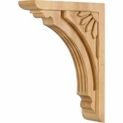 Hardware Resources - COR5-3RW - Art Deco Corbel - Rubberwood