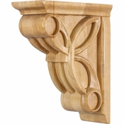 Hardware Resources - COR6-1RW - Celtic Weave Corbel - Rubberwood