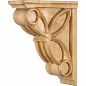 Hardware Resources - COR6-2CH - Celtic Weave Corbel - Cherry