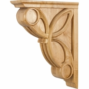 Hardware Resources - COR6-3RW - Celtic Weave Corbel - Rubberwood