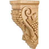 Hardware Resources - CORAA-2RW - Medium Grape Wood Corbel - Rubberwood
