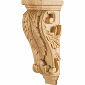 Hardware Resources - CORB-PRW - Petite Acanthus Wood Corbel - Rubberwood