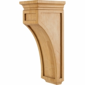 Hardware Resources - CORO-2RW - Mission Style Corbel - Rubberwood