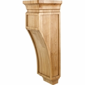 Hardware Resources - CORO-3CH - Mission Style Corbel - Cherry