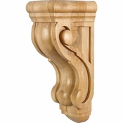 Hardware Resources - CORQ-2RW - Rounded Traditional Wood Corbel - Rubberwood
