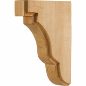Hardware Resources - CORSQ-1RW - Square Edge Bar Bracket - Rubberwood
