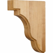 Hardware Resources - CORSQ-2RW - Square Edge Bar Bracket - Rubberwood