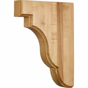 Hardware Resources - CORSQ-3RW - Square Edge Bar Bracket - Rubberwood
