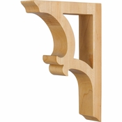 Hardware Resources - CORV-RW - Solid Wood Bar Bracket - Rubberwood