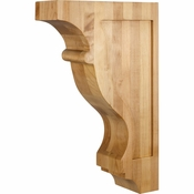 Hardware Resources - CORW-3RW - Transitional Contour Corbel - Rubberwood