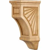 Hardware Resources - COR14-1CH - Scalloped Mission Style Corbel - Cherry