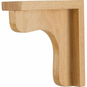 Hardware Resources - COR8-1RW - Traditional Wood Bar Bracket - Rubberwood
